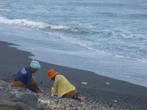 la plage de Ketewel au sud-est d'ubud
