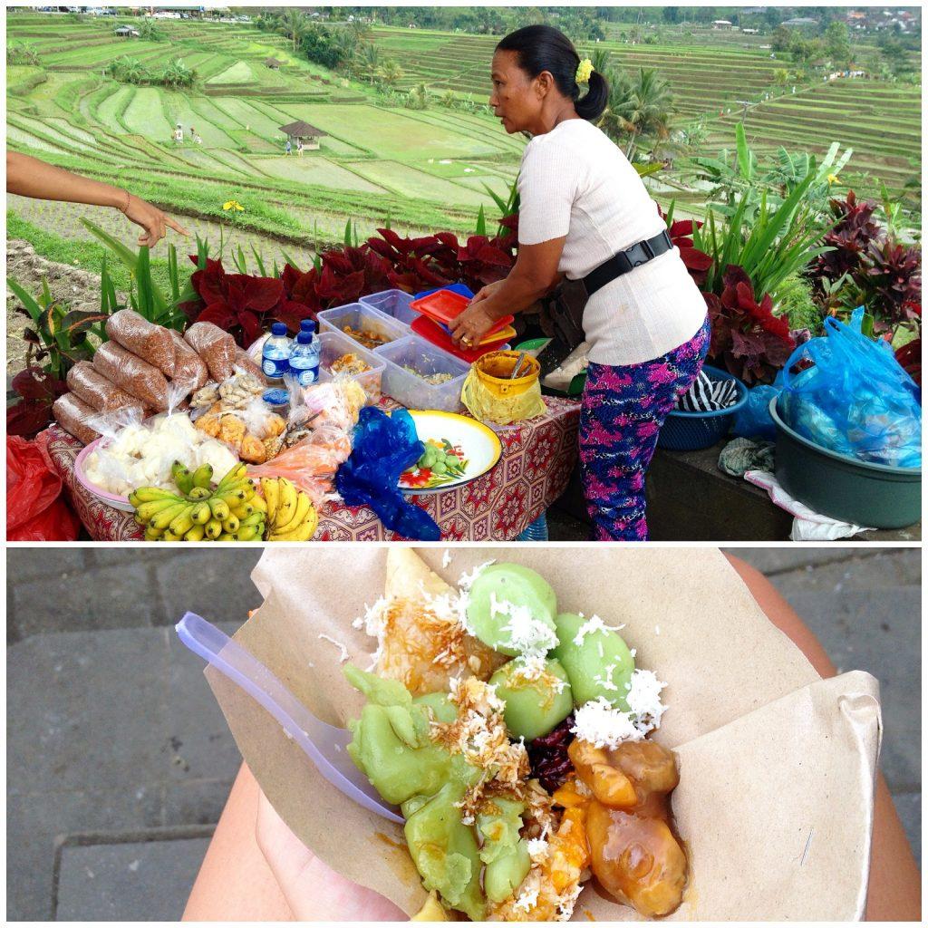 nourriture aux jatiluwih rice paddies à ubud