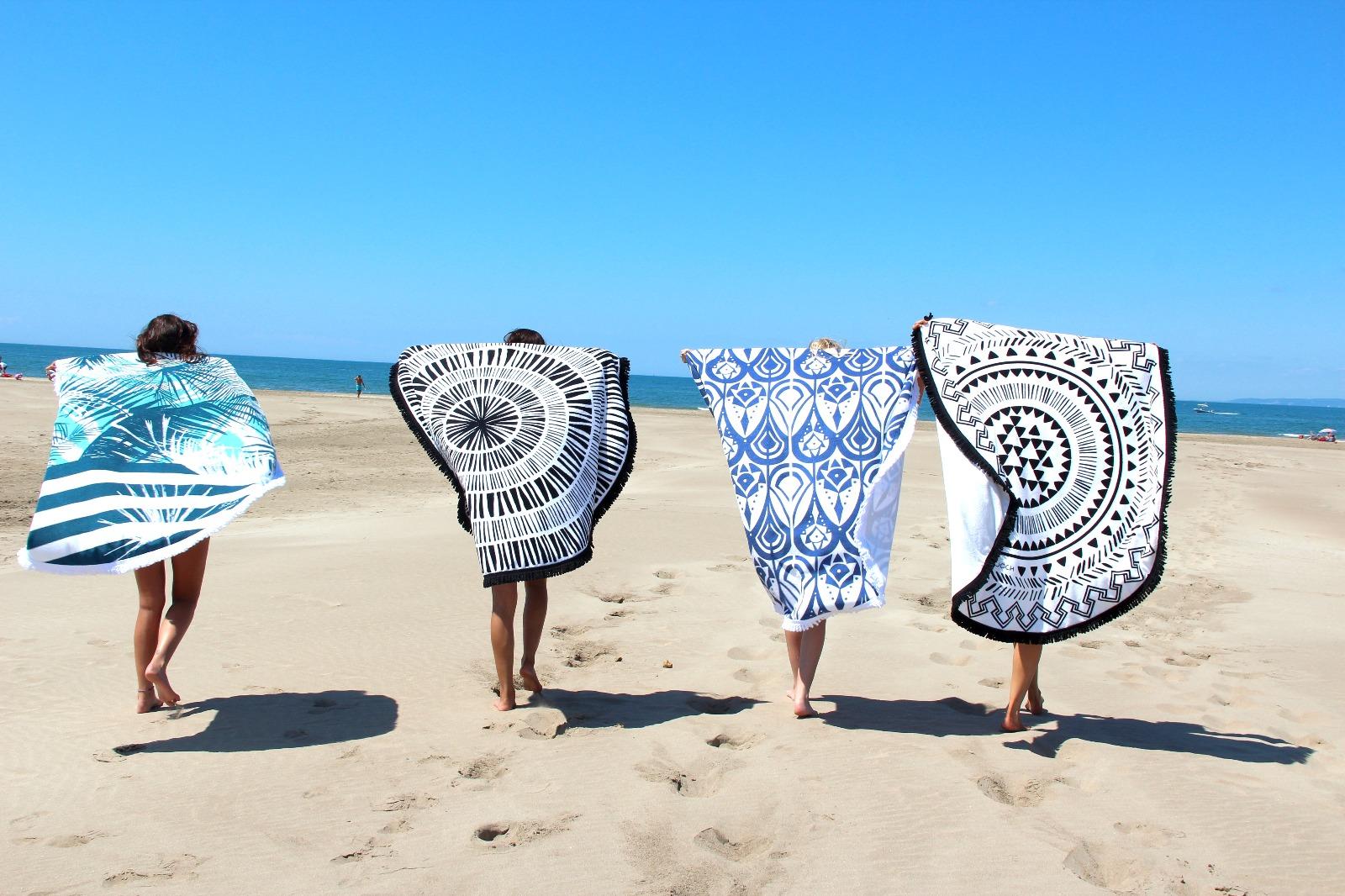 joch serviettes de plage rondes pour beach lovers. Black Bedroom Furniture Sets. Home Design Ideas