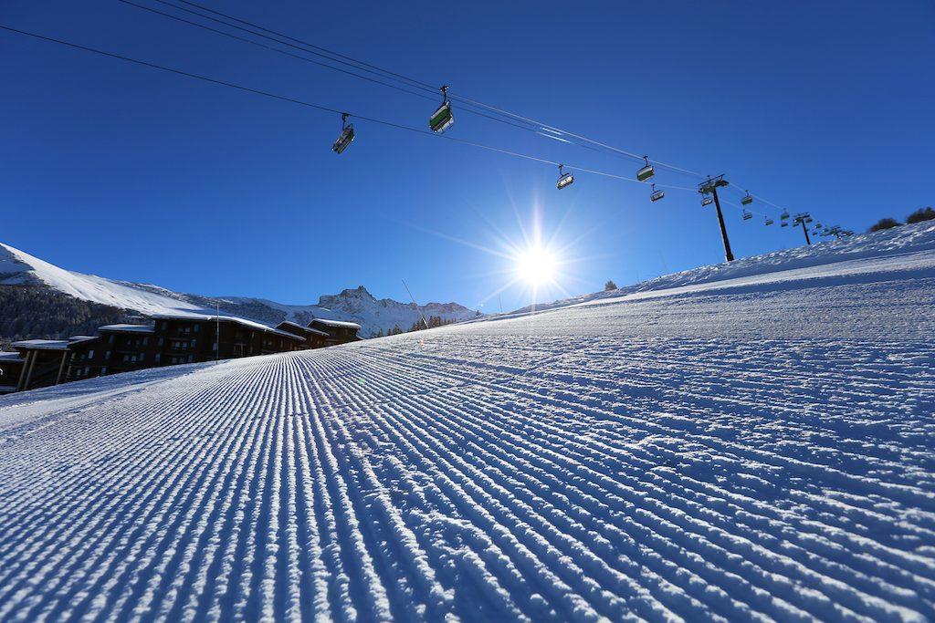 valmorel en hiver ski