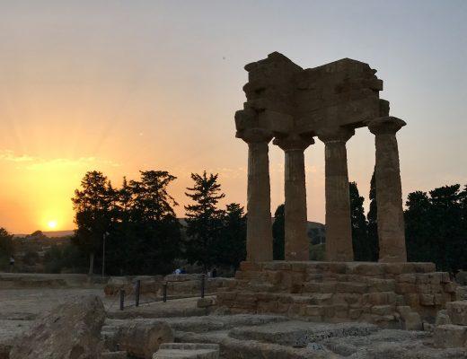 les-exploratrices-roadtrip-sicile-agrigente-vallee-des-temples-sunset