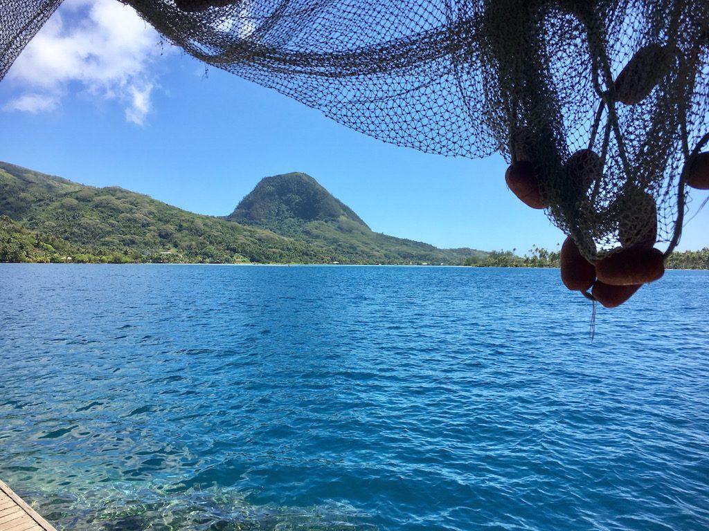 la ferme perlière de l'île de Huahine