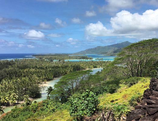vue panoramique de Huahine en Polynésie