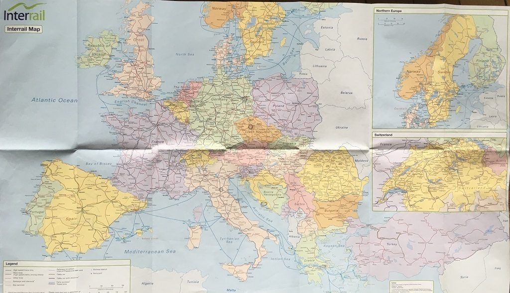 Carte Europe Itineraire.Guide Pratique Pass Interrail Les Exploratrices