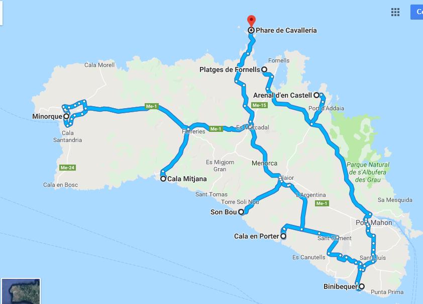 roadtrip sur l'île de minorque