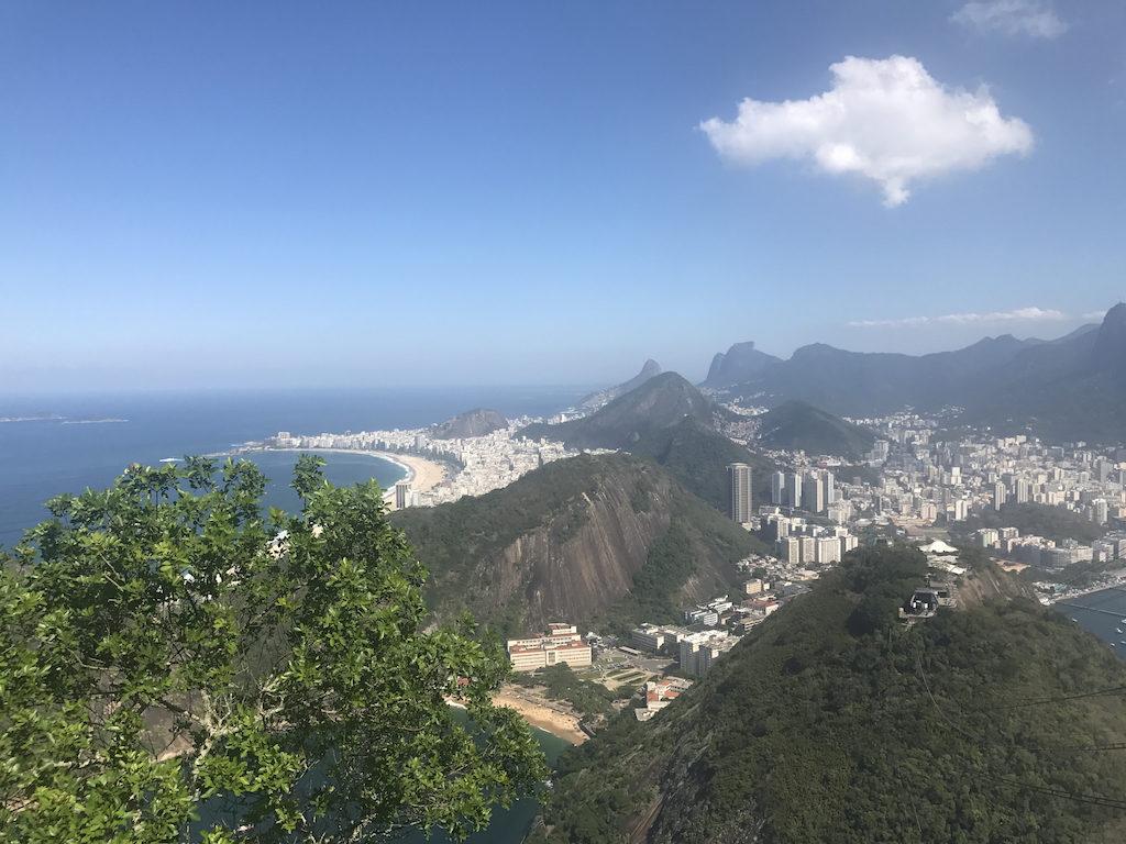 La vue de Rio de Janeiro depuis le Pain de Sucre