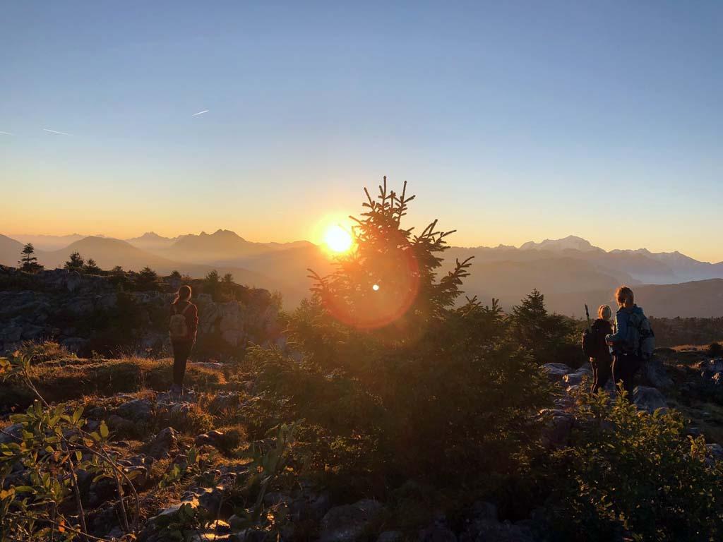 randonnée savoie mont blanc sunrise parmelan